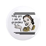 "Retro Grandma 3.5"" Button"