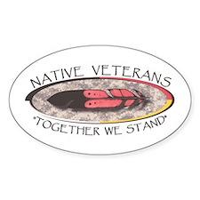 Native Veterans Decal