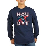 HOU DAT Long Sleeve T-Shirt (Dark Blue)