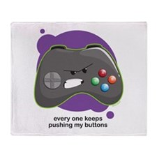Push My Buttons Throw Blanket