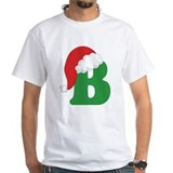 Christmas Letter B Alphabet Shirt