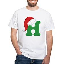 Christmas Letter H Alphabet Shirt