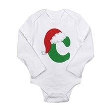 Christmas Letter C Alphabet Long Sleeve Infant Bod