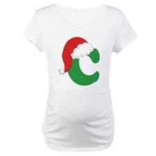 Christmas Letter C Alphabet Shirt