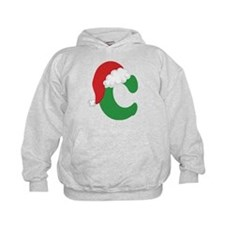 Christmas Letter C Alphabet Hoodie