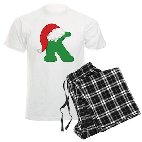 Christmas Letter K Alphabet Men's Light Pajamas