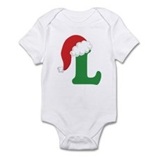 Christmas Letter L Alphabet Infant Bodysuit