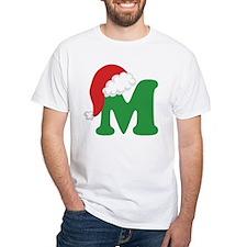 Christmas Letter M Alphabet Shirt