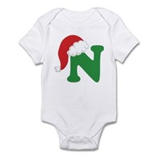 Christmas Letter N Alphabet Infant Bodysuit
