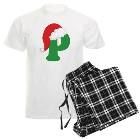 Christmas Letter P Alphabet Men's Light Pajamas