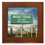 "Austin ""Music"" Texas Framed Tile"