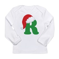 Christmas Letter R Alphabet Long Sleeve Infant T-S