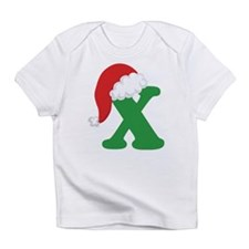 Christmas Letter X Alphabet Infant T-Shirt