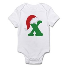 Christmas Letter X Alphabet Infant Bodysuit