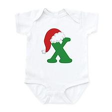 Christmas Letter X Alphabet Infant Bodysuit
