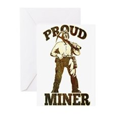 proud coal miner Greeting Cards (Pk of 20)