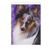 Funny Shetland sheepdog Postcards (Package of 8)