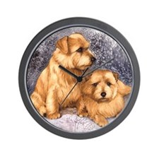 Norfolk Terrier Pair Wall Clock