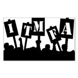 ITMFA Protest Rectangle Decal
