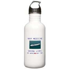 Navy Doctors Water Bottle