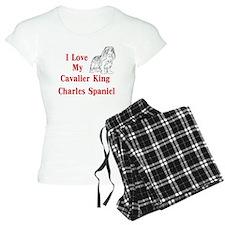 I Love My Cavalier Pajamas