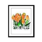 Tulips Framed Panel Print