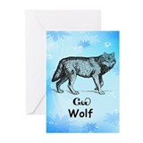 Young Cherokee Wolf Greeting Cards (Pk of 10)