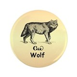"Young Cherokee Wolf 3.5"" Button"