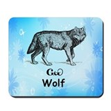 Young Cherokee Wolf Mousepad
