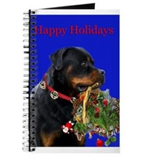 Rottweiler with a basket Journal