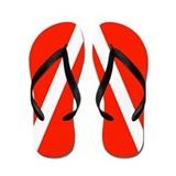 Scuba Dive Flag Flip Flops