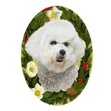 Bichon Frise Ornament (Oval)