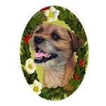 Border Terrier Ornament (Oval)