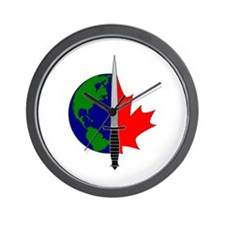 Joint Task Force 2 logo - Silver Wall Clock