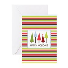 Stripes and Trees Holiday Greeting Cards (Pk of 20