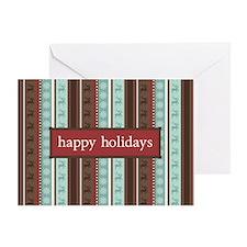 Reindeer Stripes Holiday Greeting Card