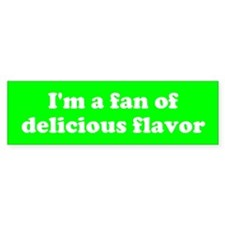 Psych Fan of Delicious Flavor Bumper Car Sticker
