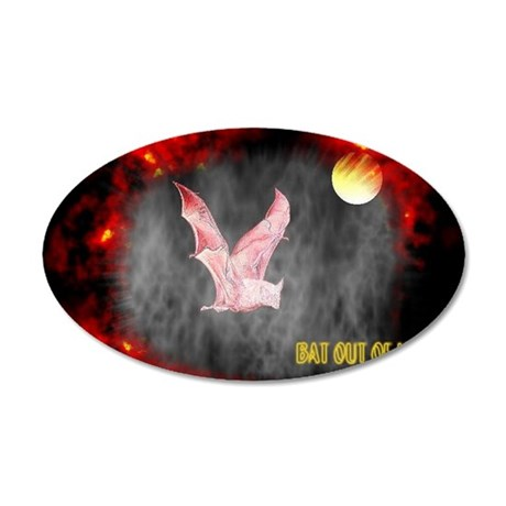 Jmcks Bat Out Of Hell 38.5 x 24.5 Oval Wall Peel