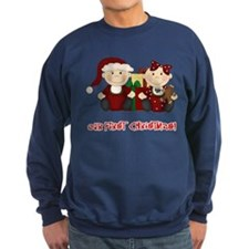 Twin Boy and Girl 1st Christmas Sweatshirt