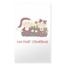 Twin Boy and Girl 1st Christmas Decal