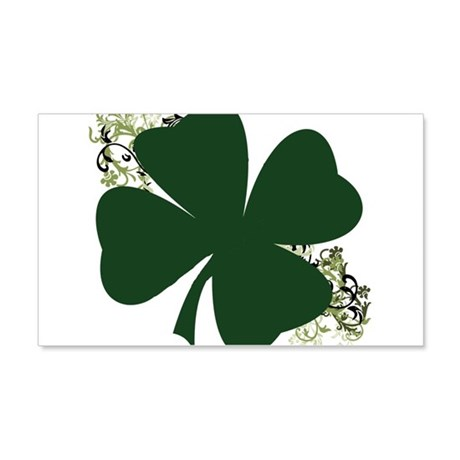 Lucky Irish Clover 22x14 Wall Peel