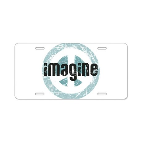 Imagine Peace Aluminum License Plate