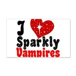 I Love Sparkly Vampires 22x14 Wall Peel
