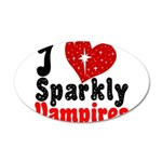 I Love Sparkly Vampires 38.5 x 24.5 Oval Wall Peel