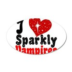 I Love Sparkly Vampires 22x14 Oval Wall Peel