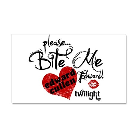 Bite Me Edward Cullen Car Magnet 20 x 12