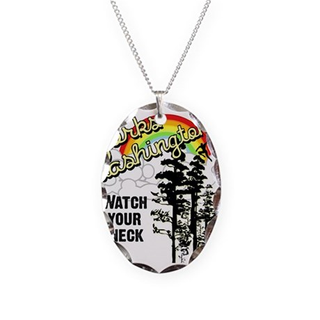 Forks Washington Twilight Necklace Oval Charm