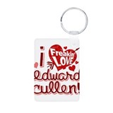 Freakin LOVE Edward Cullen Aluminum Photo Keychain