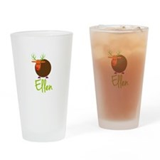 Ellen the Reindeer Drinking Glass