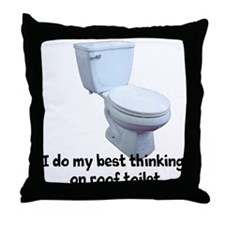 Roof Toilet Throw Pillow